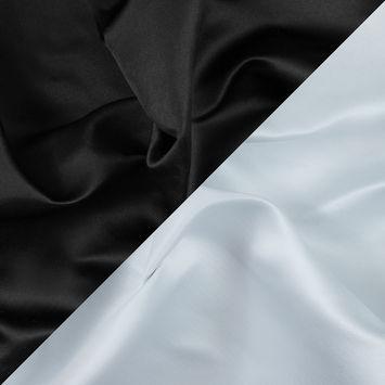 Black and White Two-Tone Double Duchesse Satin