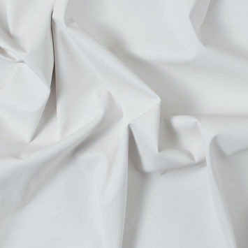 Italian White Faux Leather with White Knit Backing