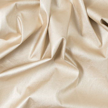 Italian Gold Faux Leather with Gold Knit Backing