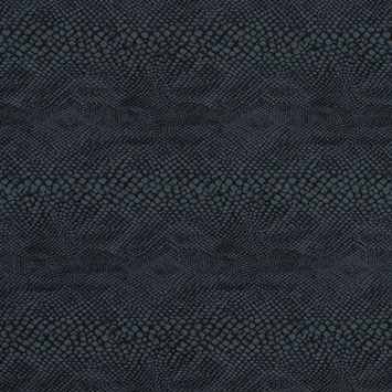Black and Gray Stretch Python Printed Woven
