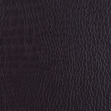 Fig Pebble Embossed Stretch Faux Leather with a Black Viscose Backing