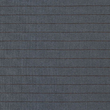 Gray and Toffee Pinstriped Twill with a Winter White Backing