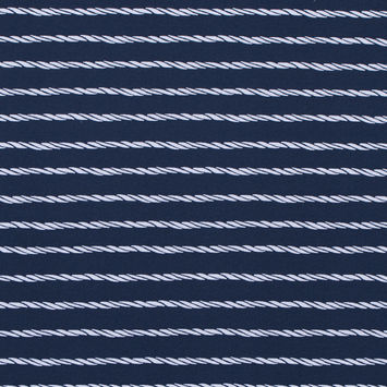 Mood Indigo Striped Ropes Printed on a Polyester Spandex