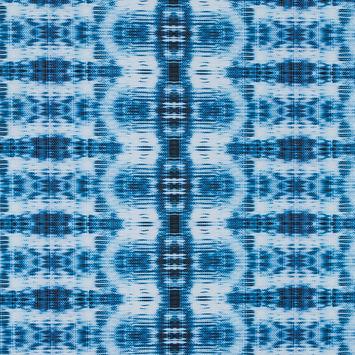 Deep Water Tie Dye Printed Polyester Spandex