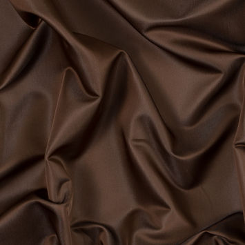 Brown and Beige Reversible Satin-Faced Polyester Twill