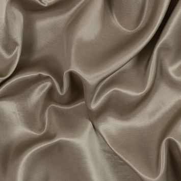 Gold Satin-Faced Twill with Brushed Beige Rayon Backing