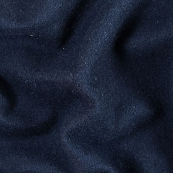 Peacoat Single Faced Fleece Wool Coating