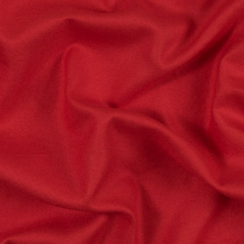 Fiery Red Viscose Flannel
