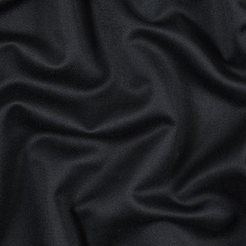 Italian Dark Navy Wool Twill with Navy Fleece Back