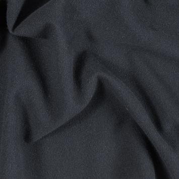 Armani Black Wool Woven with Fleece Backing