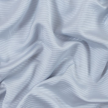 Glacier Gray Polyester Ottoman