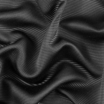 Black Polyester Ottoman