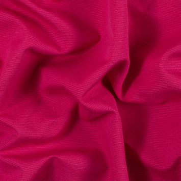 Raspberry Sorbet Cotton and Polyester Ottoman