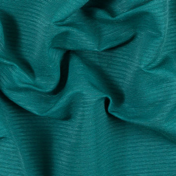 Ultramarine Green Cotton and Polyester Ottoman