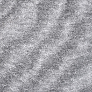 Heathered Charcoal Gray Cotton Tubular Rib Knit