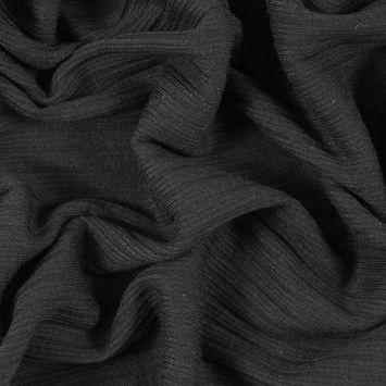 Black Stretch Tubular Rib Knit