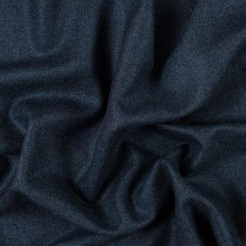Majolica Blue Brushed Wool Twill