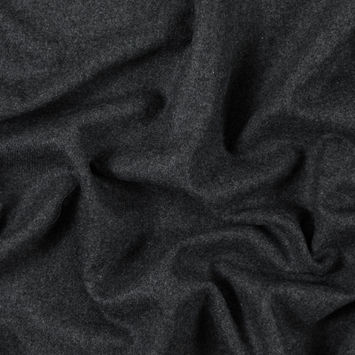 Charcoal Gray Brushed Wool Twill