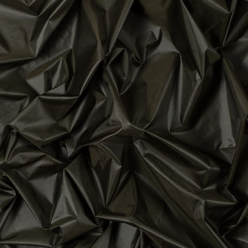 Dusty Olive Nylon with P/D Cire Finishing - 20D*20D