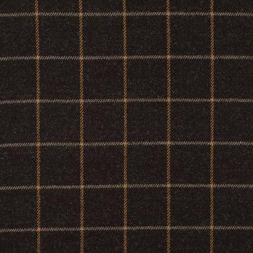Demitasse Windowpane Check Wool Twill