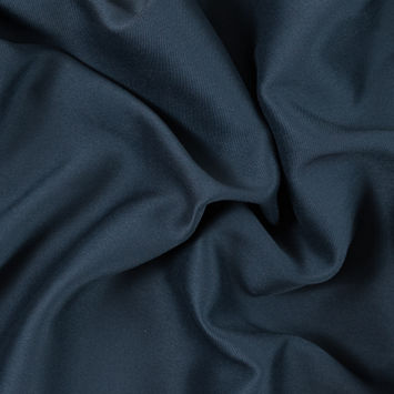 Midnight Navy Twill Backed Polyester Charmeuse