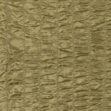 Shadow Green Ruched Polyester Taffeta