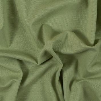Tarragon Green Cotton Pique Knit