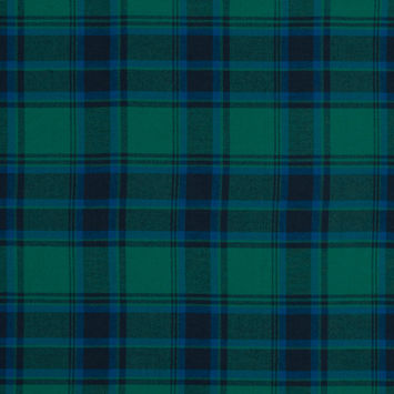Blue and Green Plaid Cotton Flannel