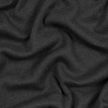 Black Tubular Bamboo Rib Knit