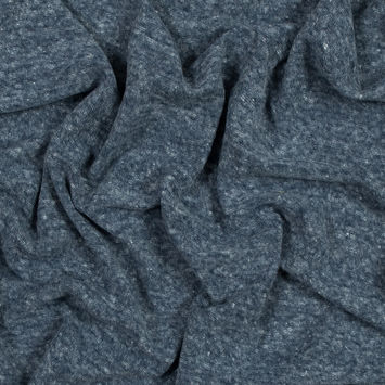 Heather Navy Linen and Polyester Knit