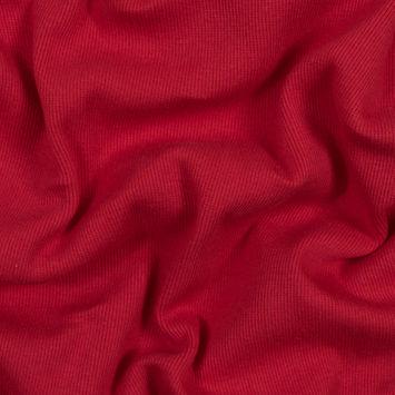 Rich Red Tubular Cotton Rib Knit
