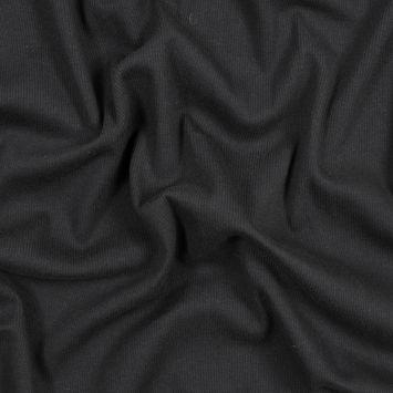Black Cotton Rib Knit