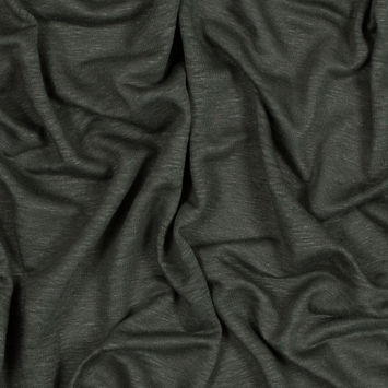 Italian Olive Solid Linen Knit