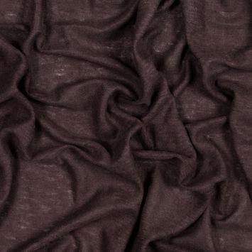Italian Chocolate Solid Linen Knit