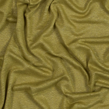 Chartreuse Linen Knit with a Silver Metallic Laminate