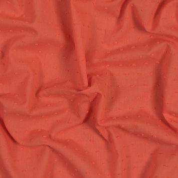 Italian Orange Cotton Swiss Dot