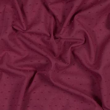 Italian Raspberry Cotton Swiss Dot