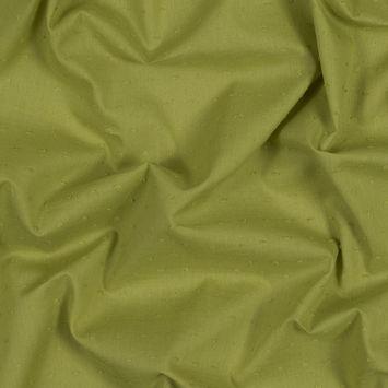 Italian Acid Green Cotton Swiss Dot