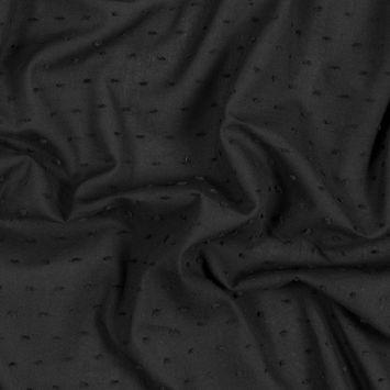 Italian Black Cotton Swiss Dot