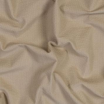 Italian Tan Cotton Seersucker Corduroy with Give