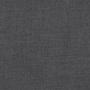 Black and Charcoal Virgin Wool Double Faced Melange