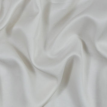 Antique White Silk and Wool Twill