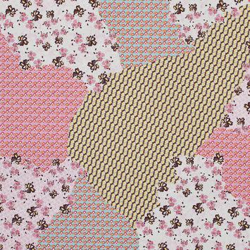 Italian Bubblegum Pink Patchwork Printed Batiste