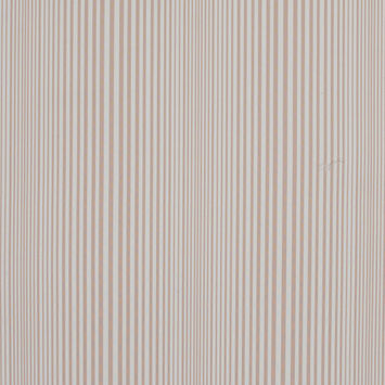 Famous NYC Designer Rose Dust and White Barcode Striped Cotton Blend
