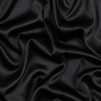 Dark Brown Stretch Silk Charmeuse