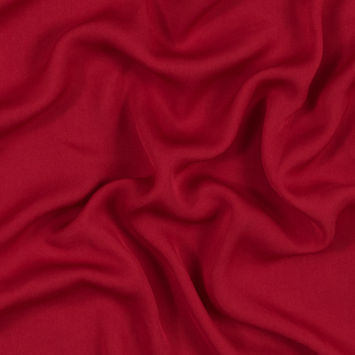 Smashing Red Brushed Polyester Georgette