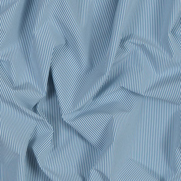 Theory Jean Blue and White Striped Polyester Shirting
