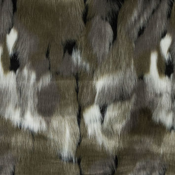 Rifle Green Abstract Faux Fur