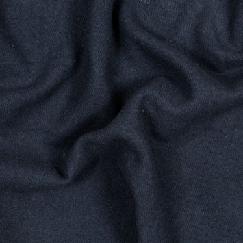 Navy Thick Brushed Wool Twill