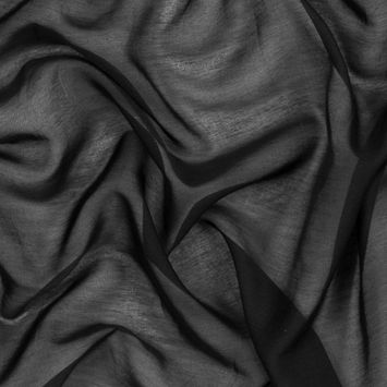 Theory Black Silk and Cotton Voile